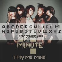 4minute I my mine  Font by StillPhantom