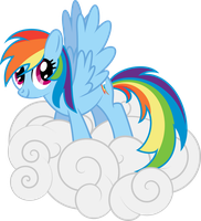 Rainbow on a Cloud by RainbowRage12