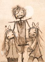 Pugo and his twins by KillerGoldFish-ka
