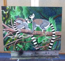 Painting 1: Final Challenge by QueenoftheLemurs