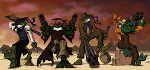 BA - Wild West Turtles by senorfro