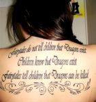 Fairytale Back Tattoo by Samoubica