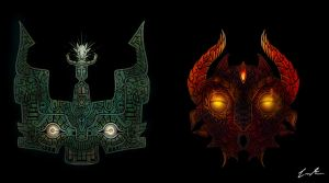 Masks of Earth and Fire by Dargonite