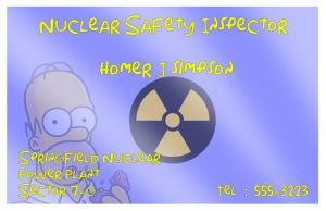 business card : Homer Simpson 2014 by darshan2good