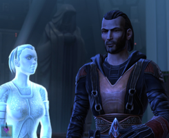 Meetra and Revan by minalhan