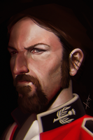Man's Face practice. by victter-le-fou