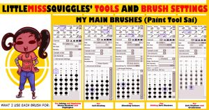 Littlemisssquiggles' Sai Brushes And Settings by LittleMissSquiggles