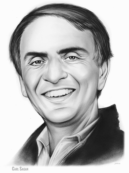 Carl Sagan by gregchapin