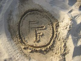 FF Logo in the Sand by ElaineG