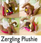 Zergling Plushie by michellescribbles