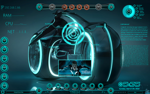 Tron DeskTop by PhysX4