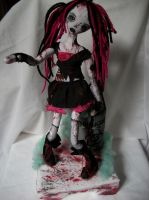 Goth Zombie Chick by dollmaker88