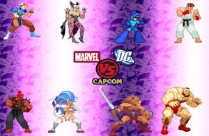 DC vs Marvel vs Capcom - Cap by anubis55
