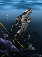 Orcas Hunting by Songficcer