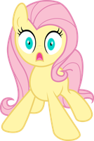 scared Flatteshy - vector by ThedarkNimbus