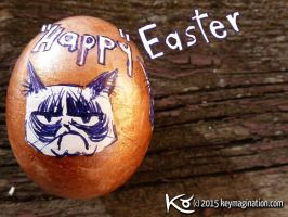 Happy Easter Grumpy Cat 2015 by Keymagination