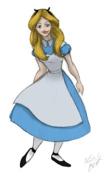 Alice Sketch Color 2 - Kimberly-Castello by Blueoriontiger