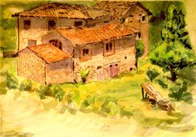 Watercolor - Chianti by AncientSources