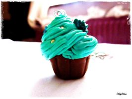 Fresh Mint Green Cupcake by Cateaclysmic