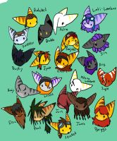 Lombax Head Icons by kazifasari