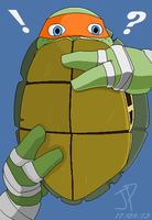 Mikey in a Half Shell by jptanchico