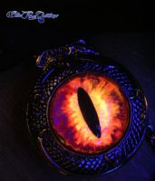 Black Light Reaction on a Dragon Slave Time Piece by LadyPirotessa