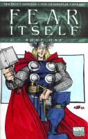 SKETCH COVER Fear Itself Thor by jasinmartin