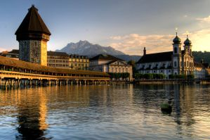 Sunset over Luzern by Greyger
