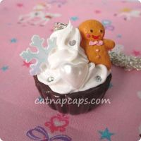 Gingerbread Man Necklace by CatNapCaps