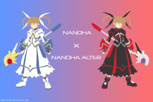 Nanoha X Nanoha Alter Vector by GhostTrap