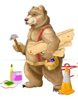Construction Bear, WIP by UrsusArctos