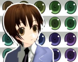 MMD Ouran High School Eyes by Xoriu
