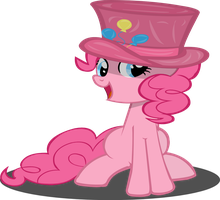 Pinkie Pie with hat by RiskyTheArt