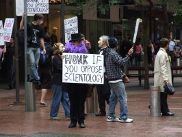 Scientology protest by BrendanR85