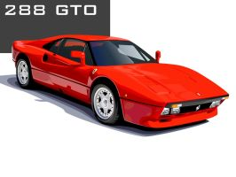 Rosso 288 GTO by mertol