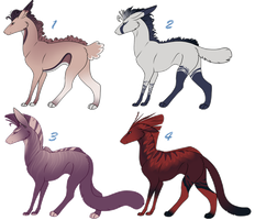 Panther Hound Adoptables 3 CLOSED by NakkAdoptables