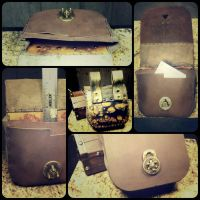 steampunk belt pouch by PhantomLeather