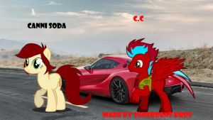 Canni Soda and C.C Toyota FT1 by superdentbros