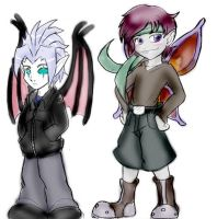 NS Students: Quin and Nak by Nightschool
