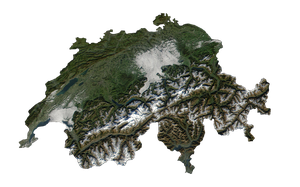 Switzerland And Liechtenstein Terra by Xumarov