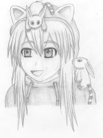 Anime girl with fantasy animals by TheTalkingMask