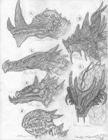 Dragon Head Concepts by DoMo-DiSFunKTiOn