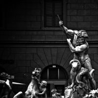 Neptune's Fountain Rome by superflyninja