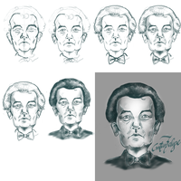 Inspirated Bill Murray portrait process by gordonf98