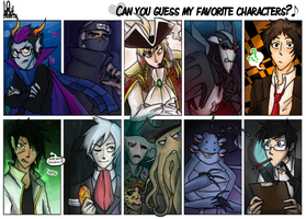Meme: Can You Guess My Favorite Characters? by Mossygator