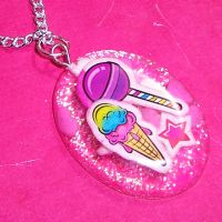 Sweet Treats Resin Necklace by bapity88