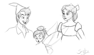 Peter Pan Sketches by Blossom525