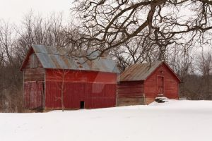 Red Farm Buildings by lividity101