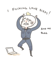 APH: I FUCKING LOVE BIRDS by Randomsplashes