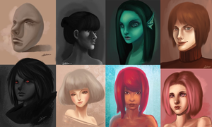 Portraits Collection #1 by wangqr